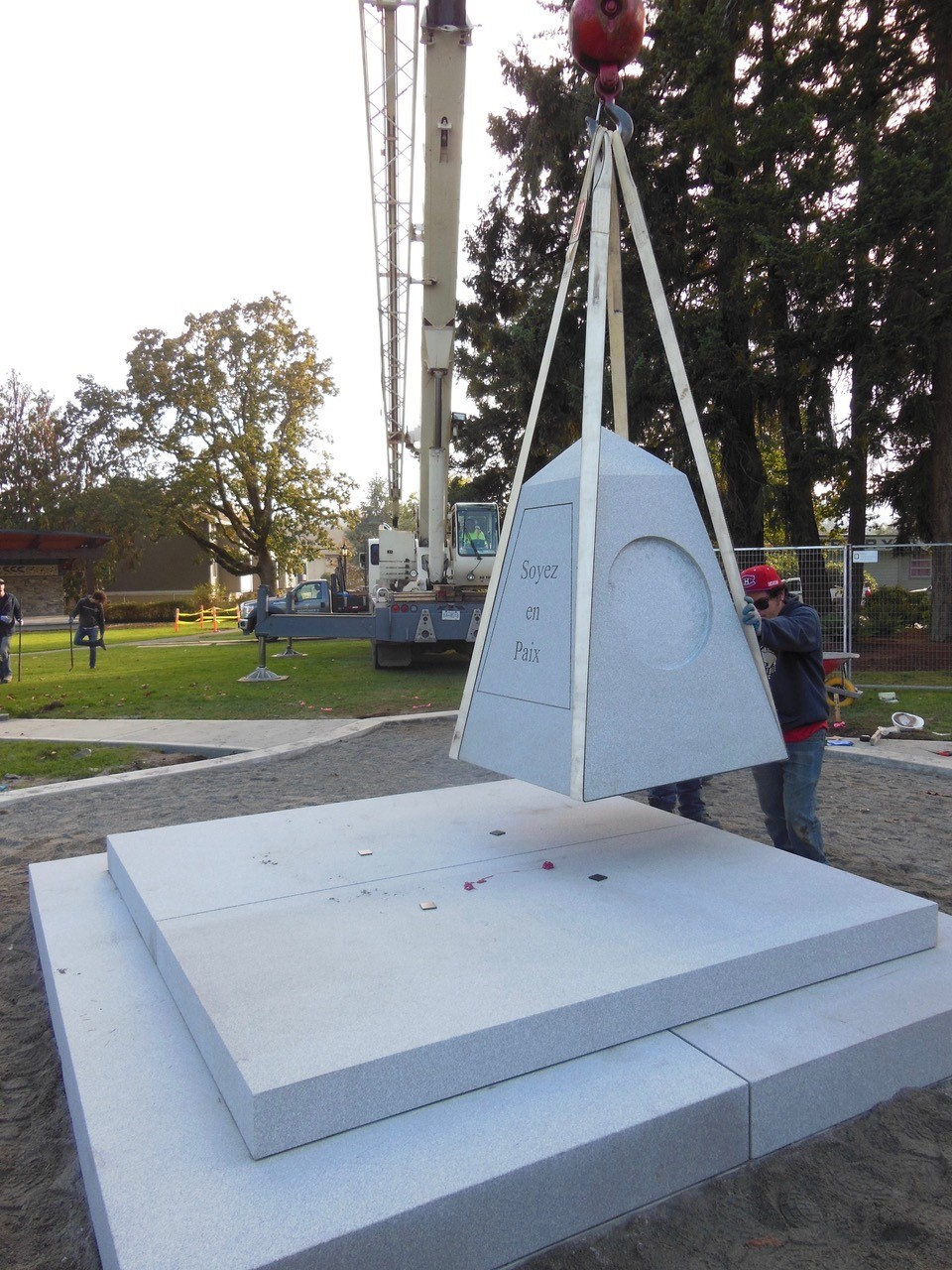 Cenotaph installation