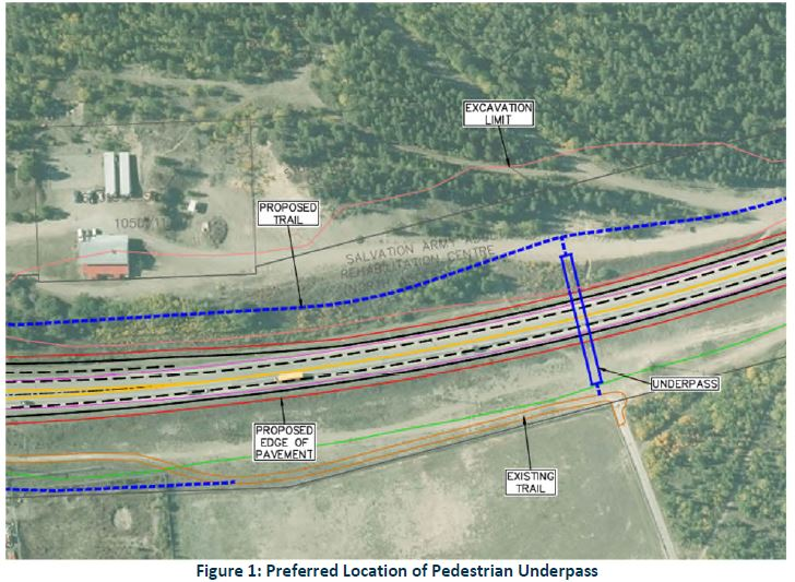 Potential location for a pedestrian underpass