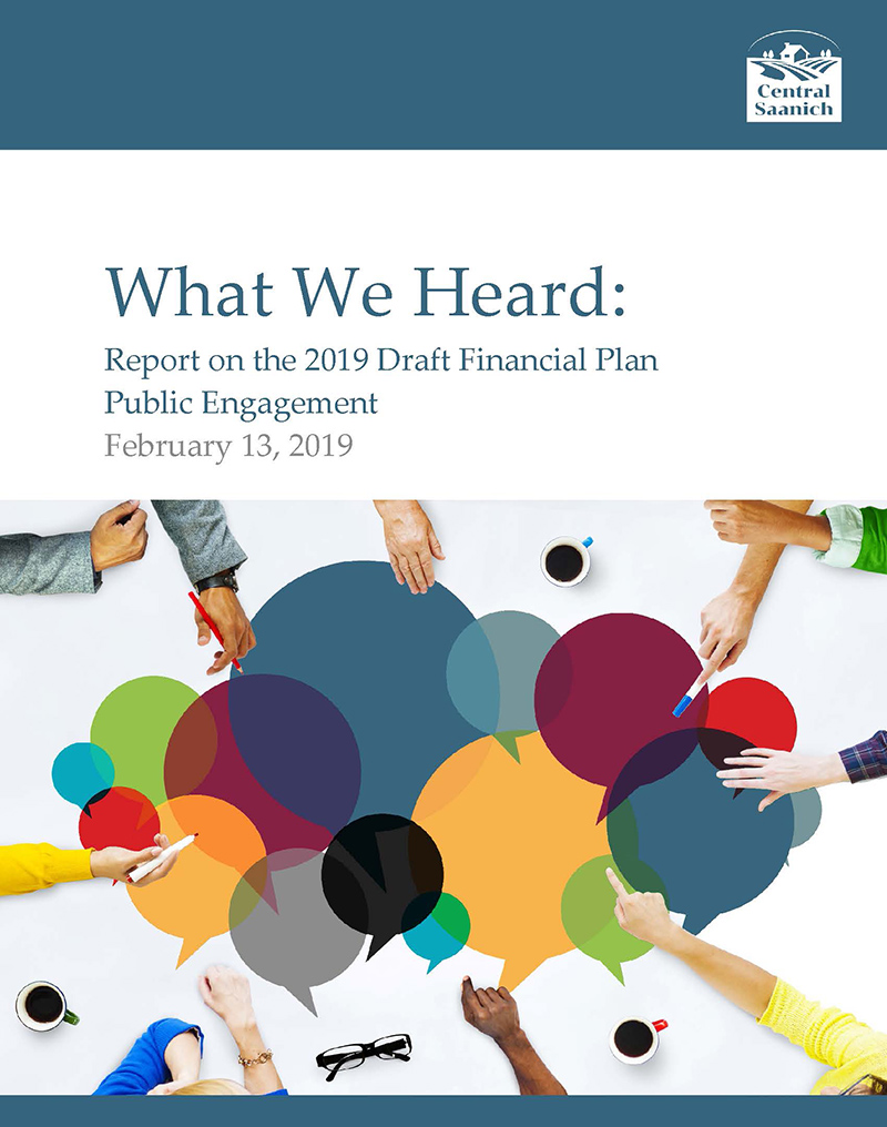 2019 draft financial plan what we heard engagement report v1 page 01