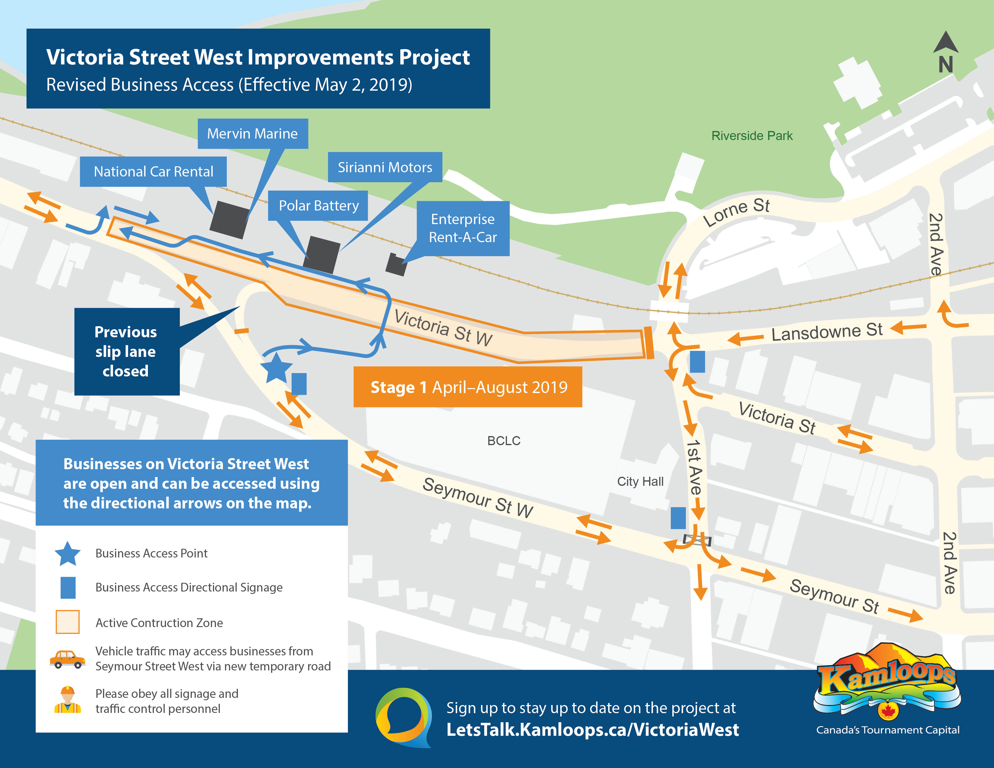 Map Of Canada Showing Kamloops.Victoria Street West Improvements Project Let S Talk Kamloops