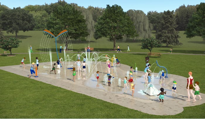 Option a for brant hills splash pad