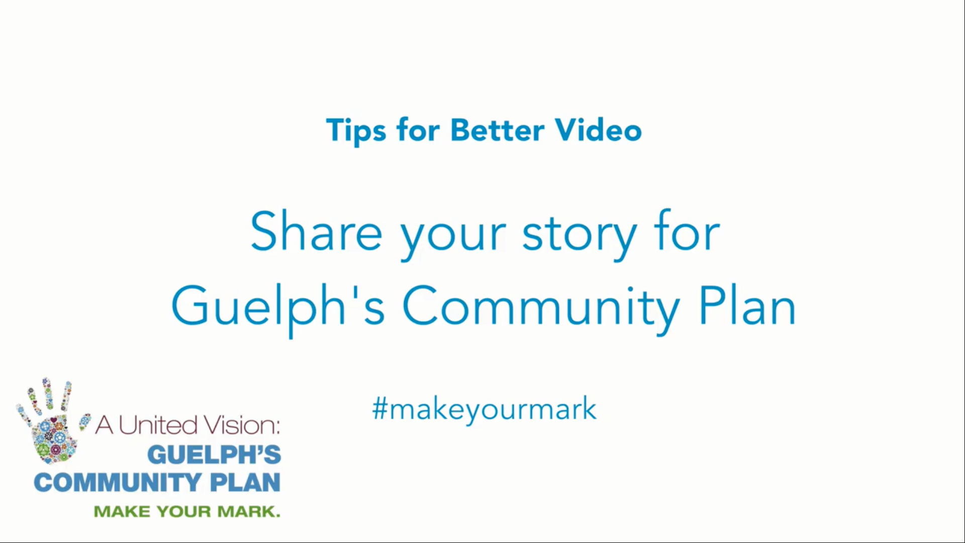 How to take a community plan video