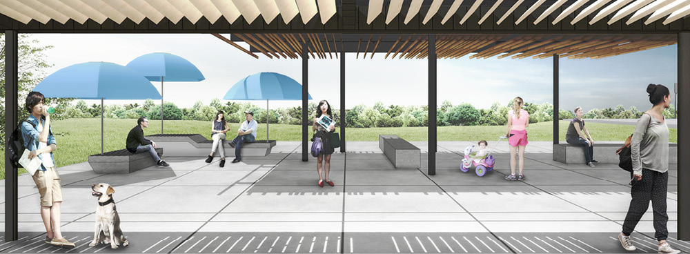Outdoor Amenities Rendering