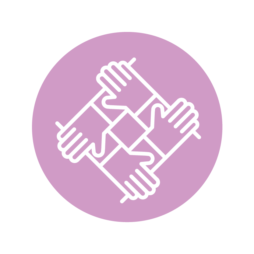 Community & neighbourhoods icon of hands holding