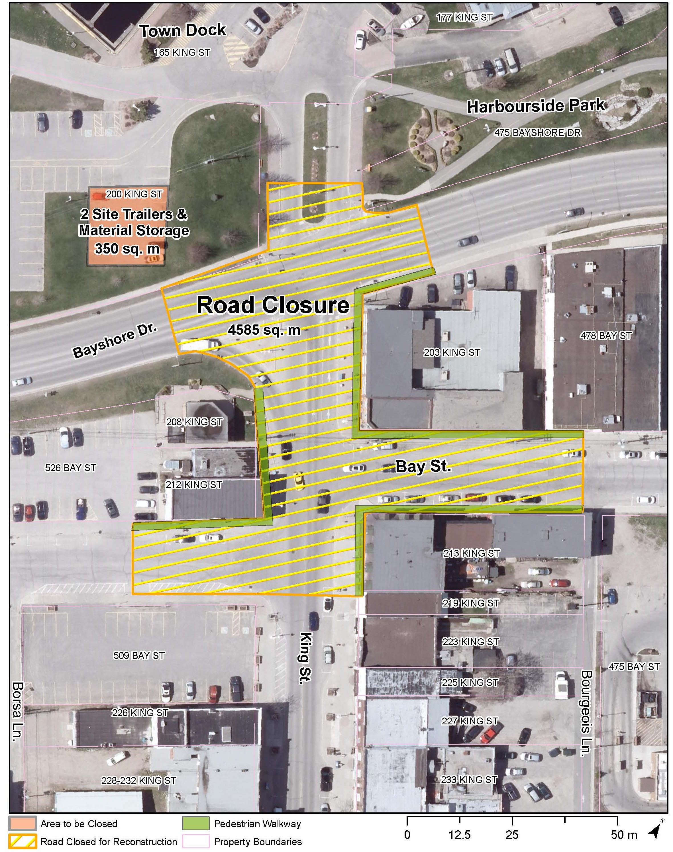 King st and bayshore drive road closure sept 2019 %282%29