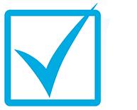 An icon of a check mark