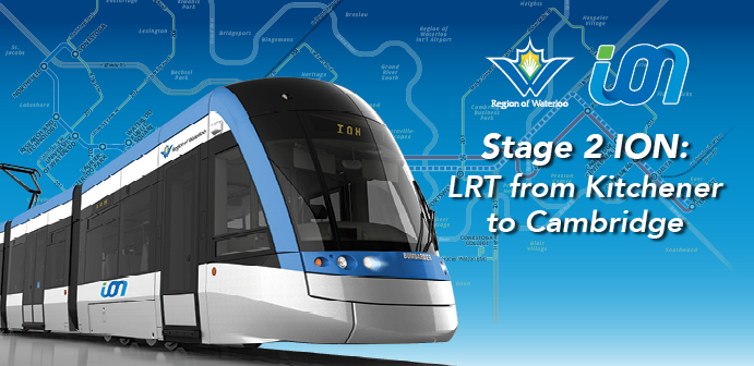 Stage 2 ION: Light rail transit from Kitchener to Cambridge