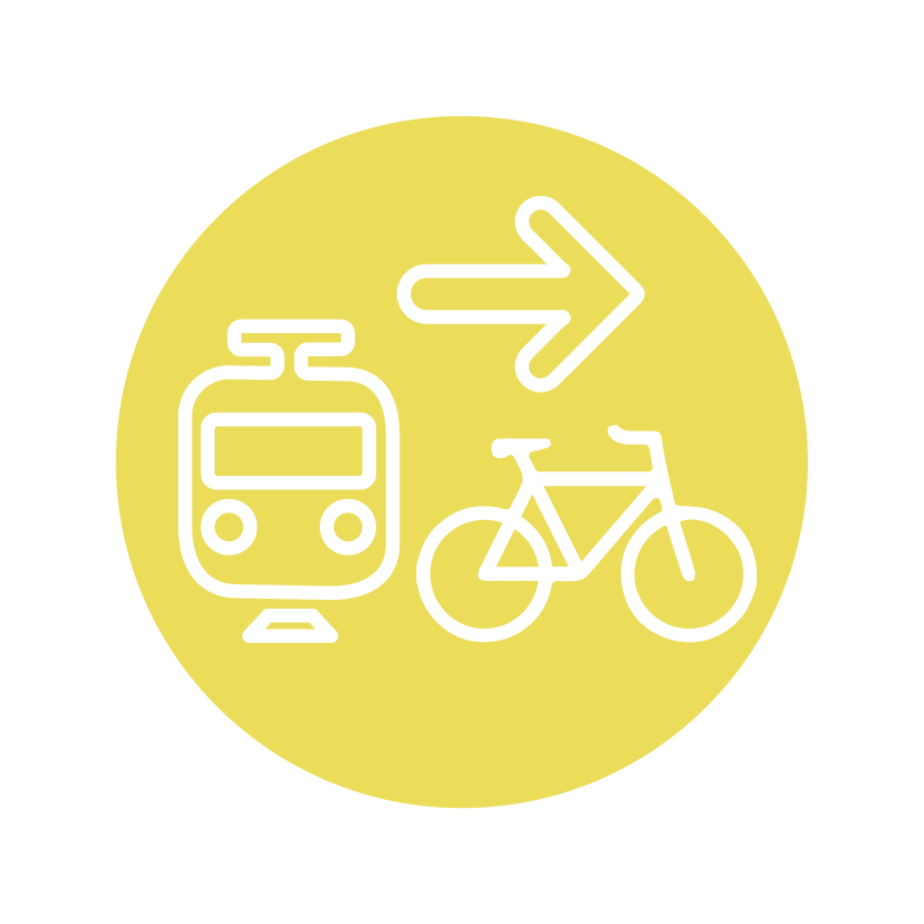 Getting around icon of different modes of travel