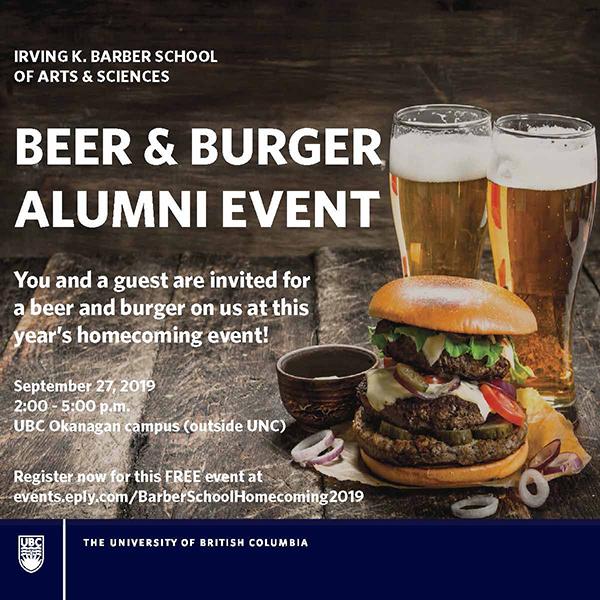 Irving K  Barber School of Arts & Sciences EVENT - Registration