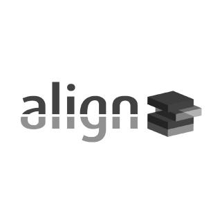 Align greyscale logo