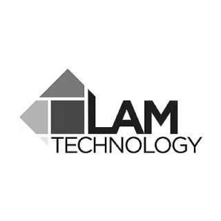 Lam technologies greyscale logo