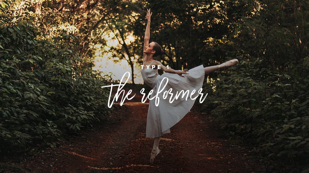 """""""Type 1: the reformer"""". A ballerina in dancing in the woods"""