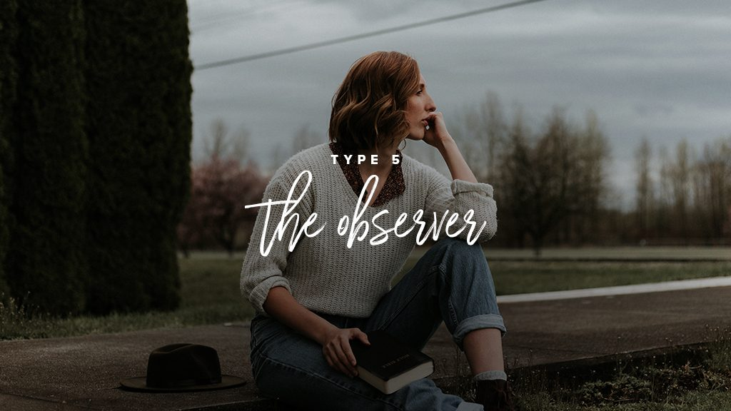 """A GIRL WEARING JEANS AND A WHITE SWEATER LOOKS CONTEMPLATIVELY OFF TO THE DISTANCE. """"TYPE 5: THE OBSERVER"""""""