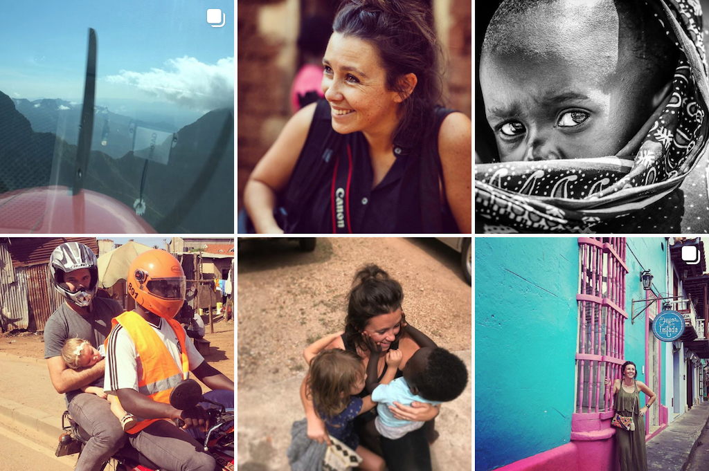 A grid of photos from Helen Manson's Instagram account.