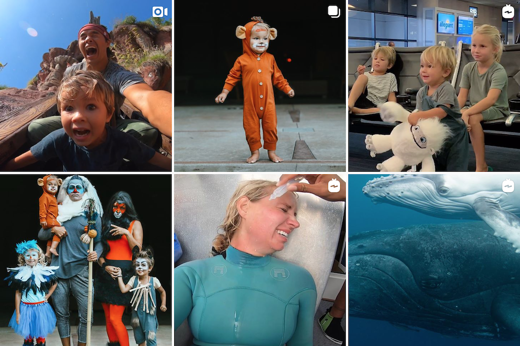 A grid of photos from The Bucket List Family's Instagram account.
