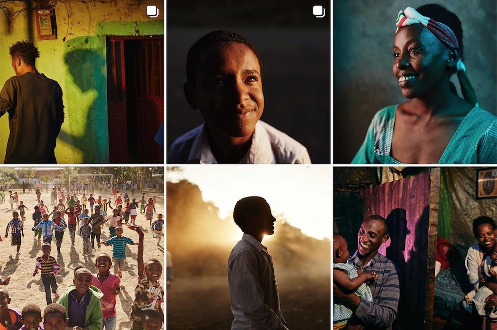 A grid of photos from Ben Adams' Instagram account.
