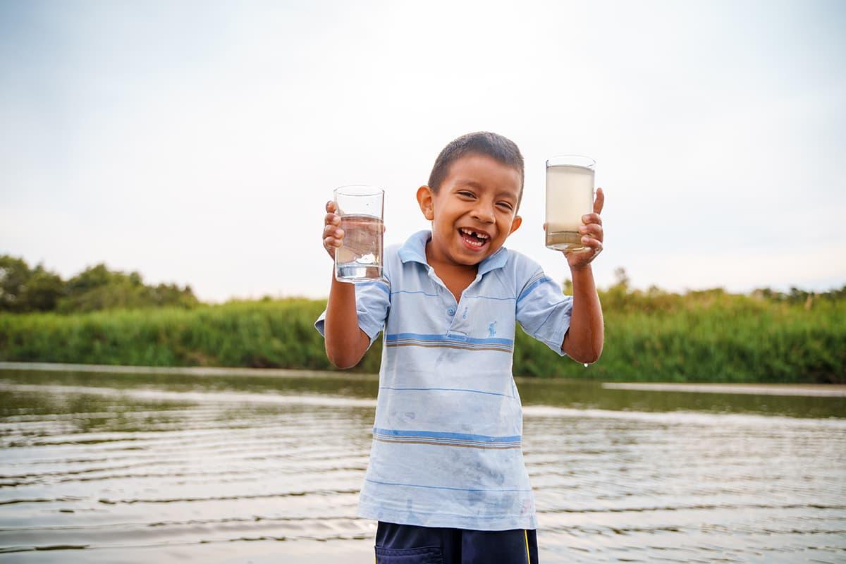 Safe water boy
