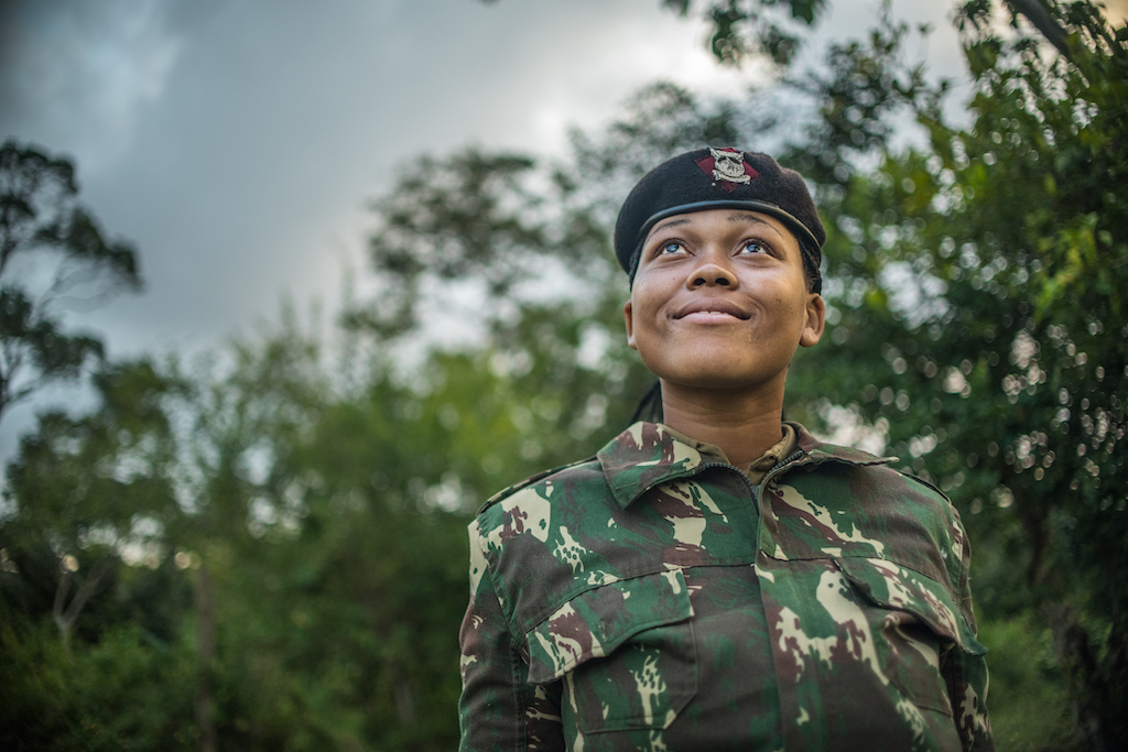 A portrait of Miriam, a policewoman and Compassion alumna in Kenya