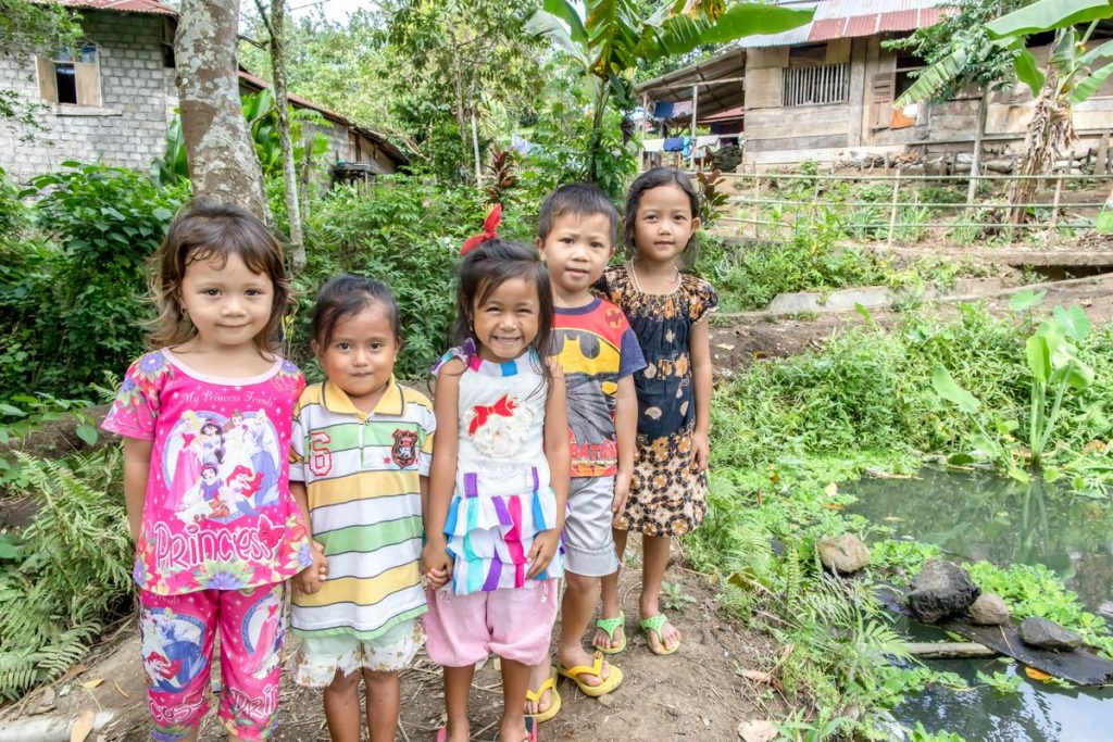 Some of the children whose lives and hygiene habits have been transformed since their local church has partnered with Compassion.