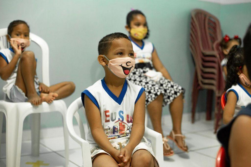 Children in a Compassion centre in Brazil