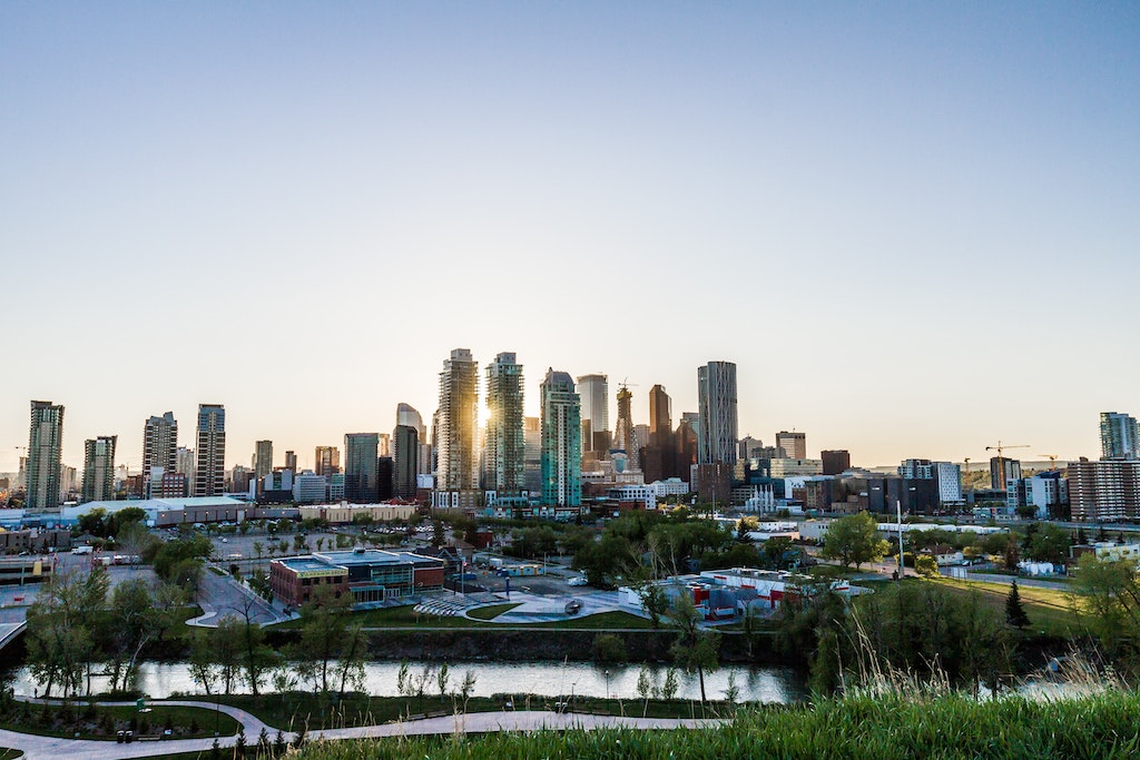 A view of downtown Calgary, Alberta.