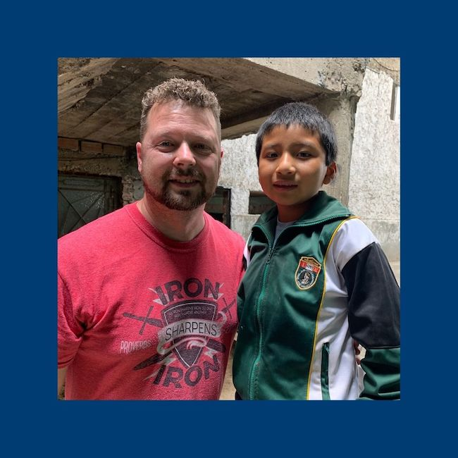 Pastor Rob with his sponsored child