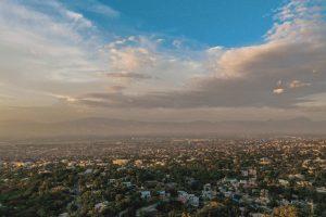 A landscape in Haiti.