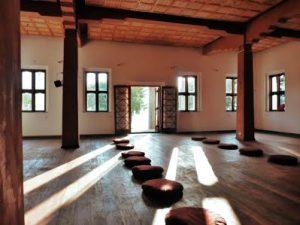 Salle meditation Inde