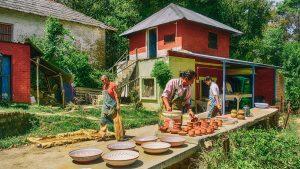 Village potiers Inde