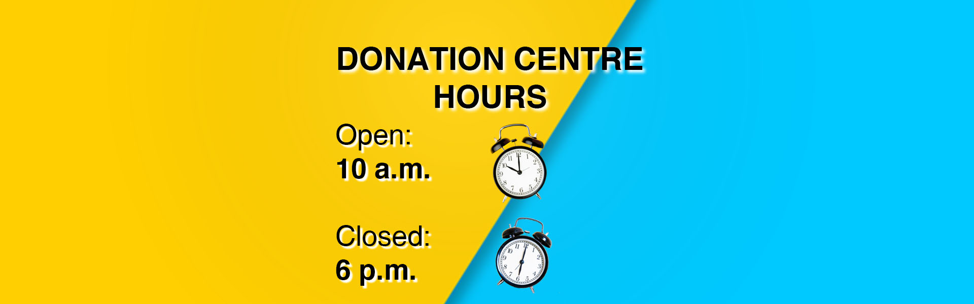 Donation Centres Re-Launch