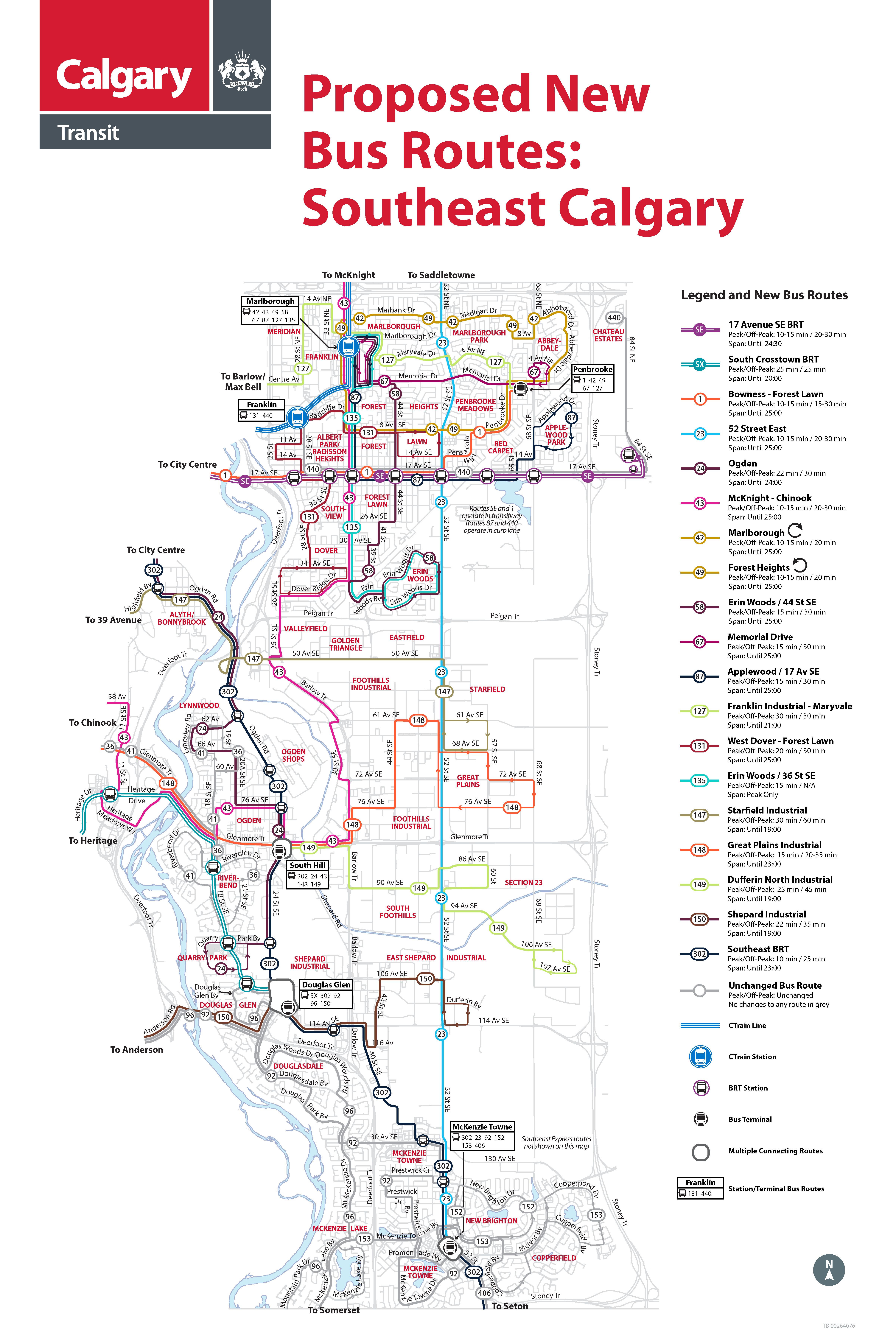 Southeast routes map