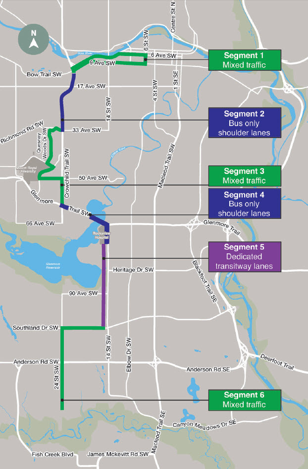 SW BRT Project Map
