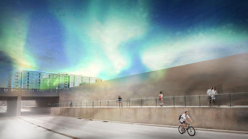Design 1 experiential light field artist rendering