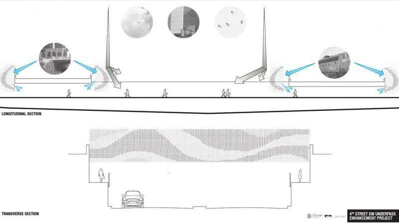 Design 3 condenser longitudinal and transverse section diagrams