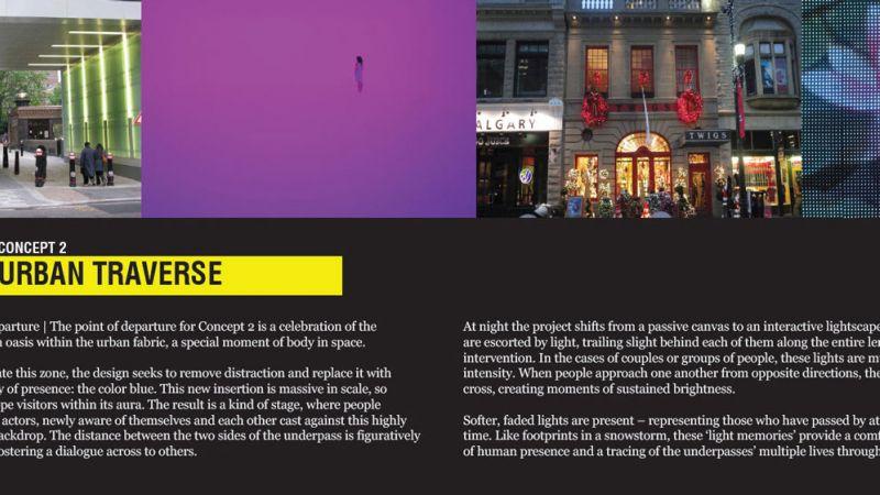Design 2 urban traverse concept description