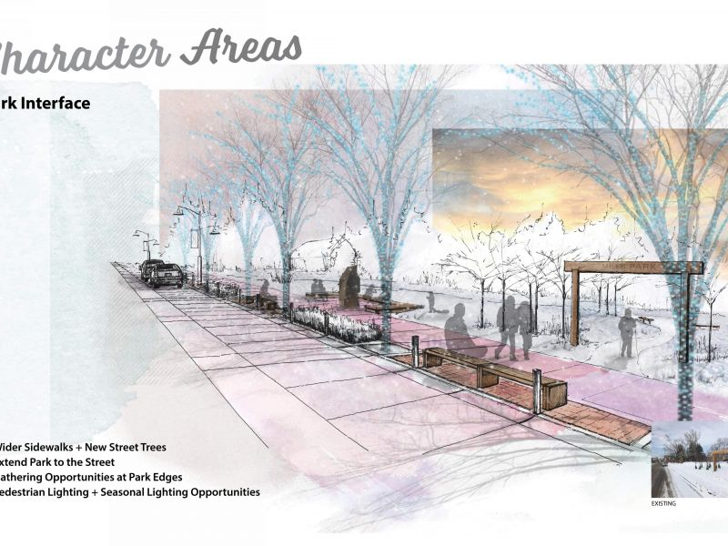 Rendering of park interface