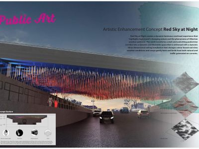 Artistic enhancement concept, Red Sky at Night
