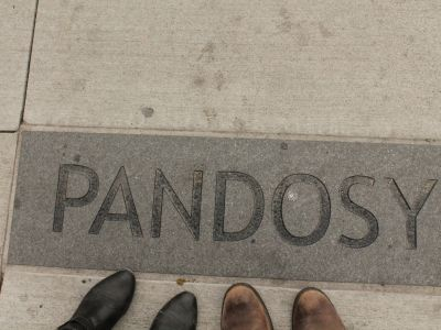 Paving with an area name embedded