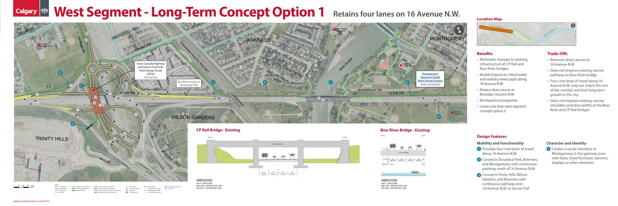 West Segment - Long-Term Concept Option 1