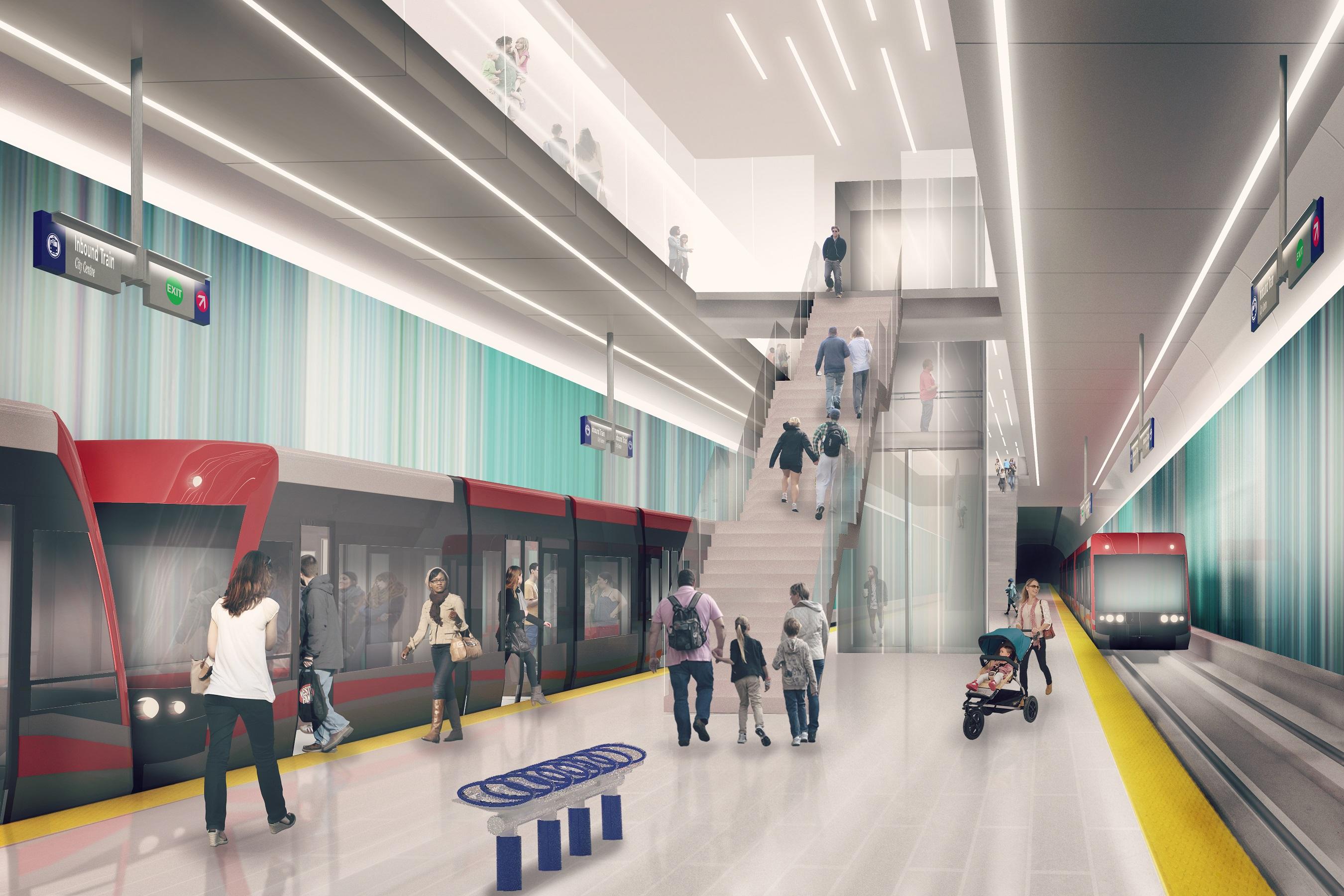 Underground station platform design