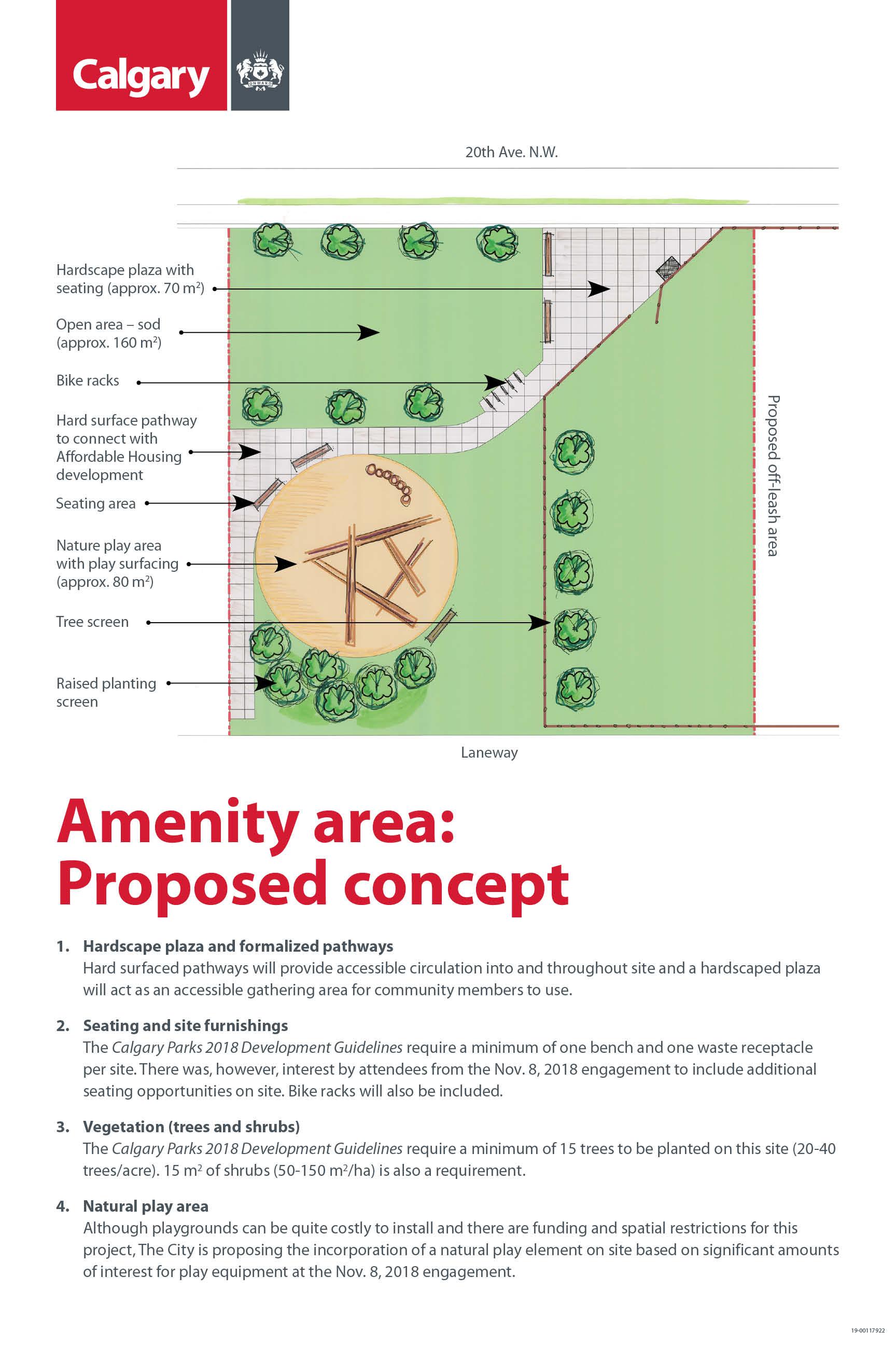 Amenity area concept