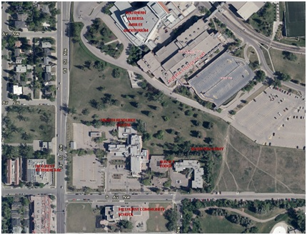Map of Grace Hospital redesignation area
