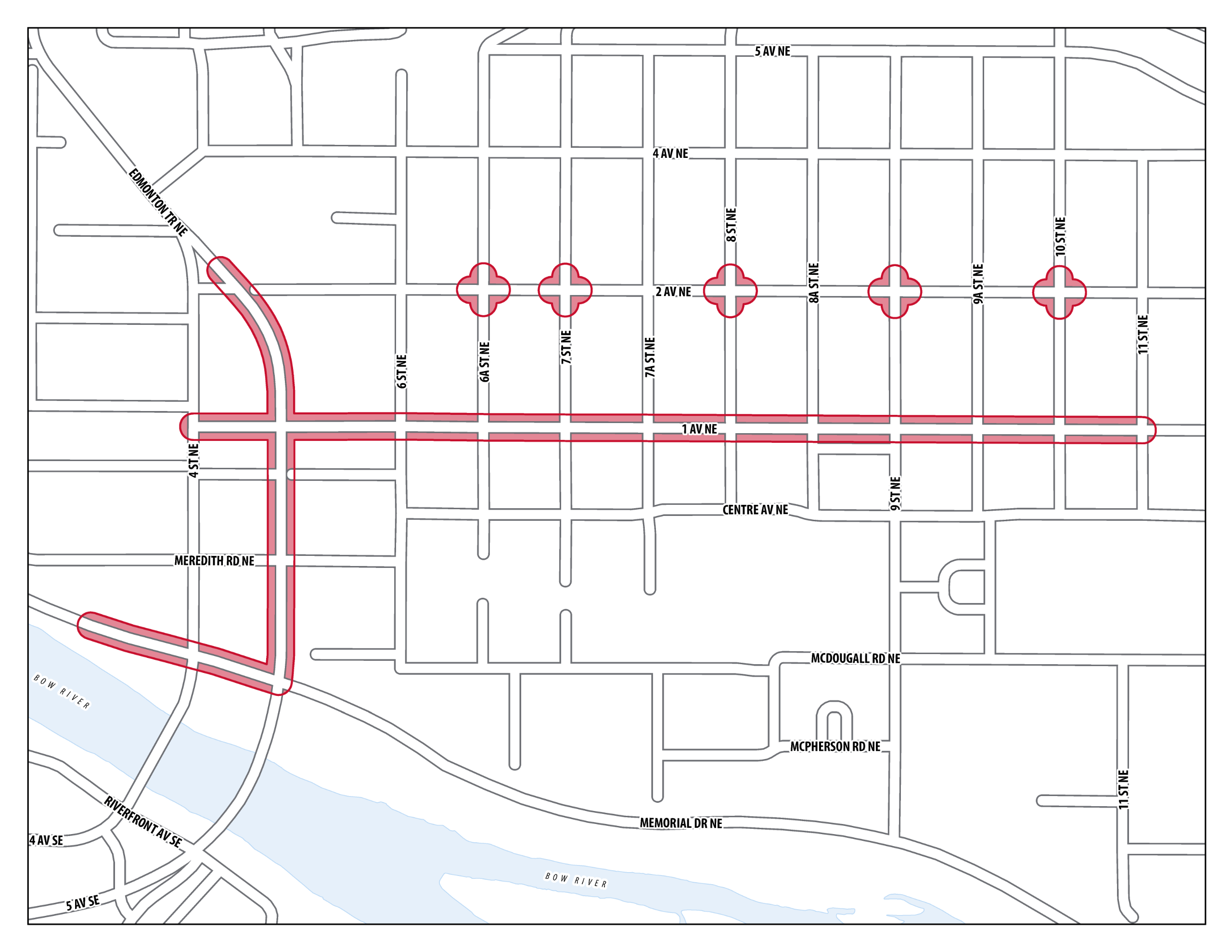 1 Avenue N.E. Main Streets Project Area