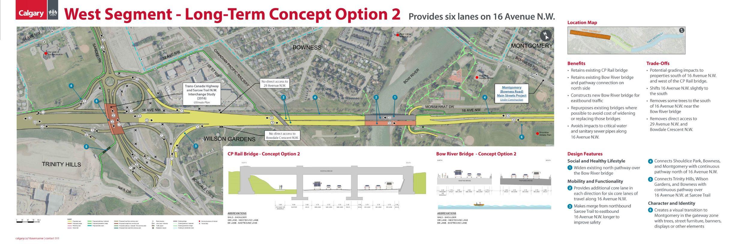 West Segment - Long-Term Concept Option 2