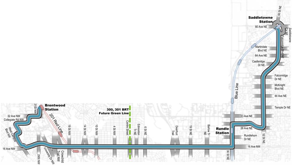 North Crosstown BRT Map