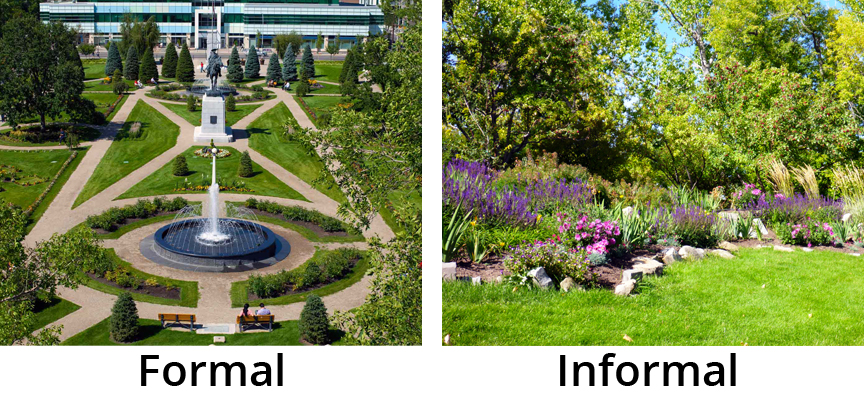 Formal or informal plant beds