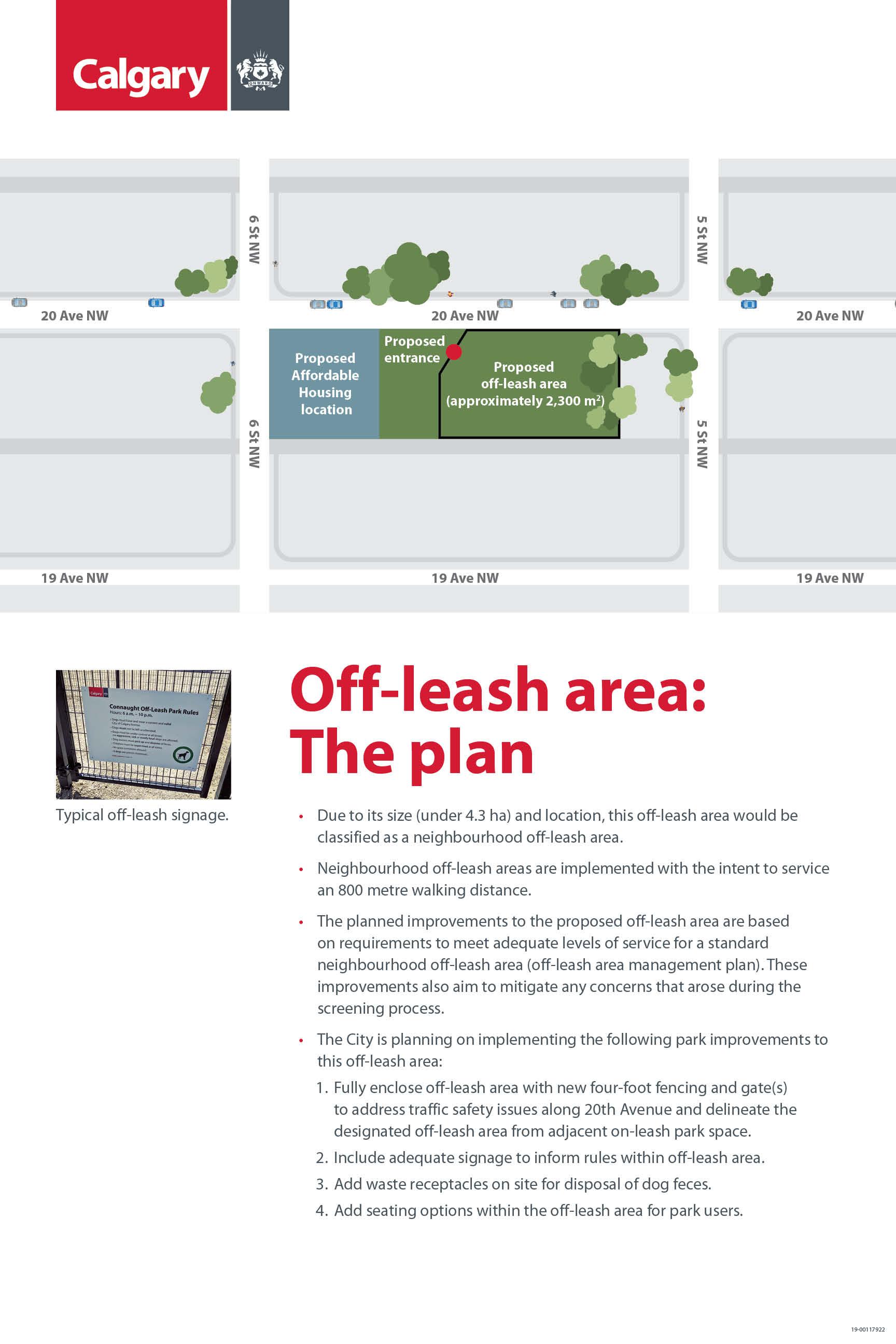 Off leash area plan