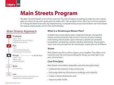Main Streets Program