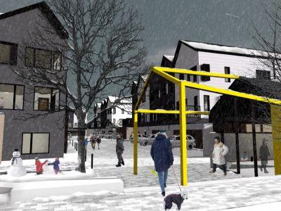 Community Hub Winter Scene